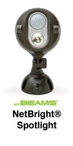 mr beams netbright, outdoor security light, wireless security light, networked spotlight