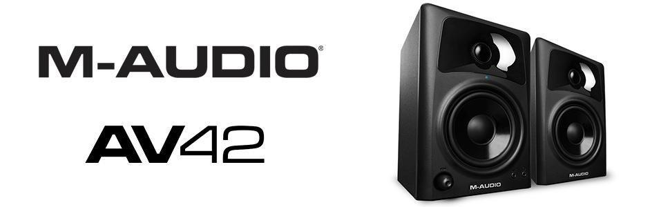 M-Audio, AV42, Studio, Monitor, Speakers