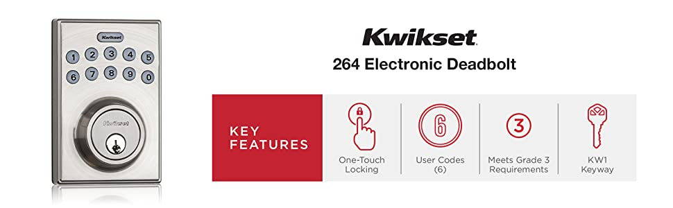 one touch locking, 1 touch locking, bumping, bump proof, KW1 Keyway