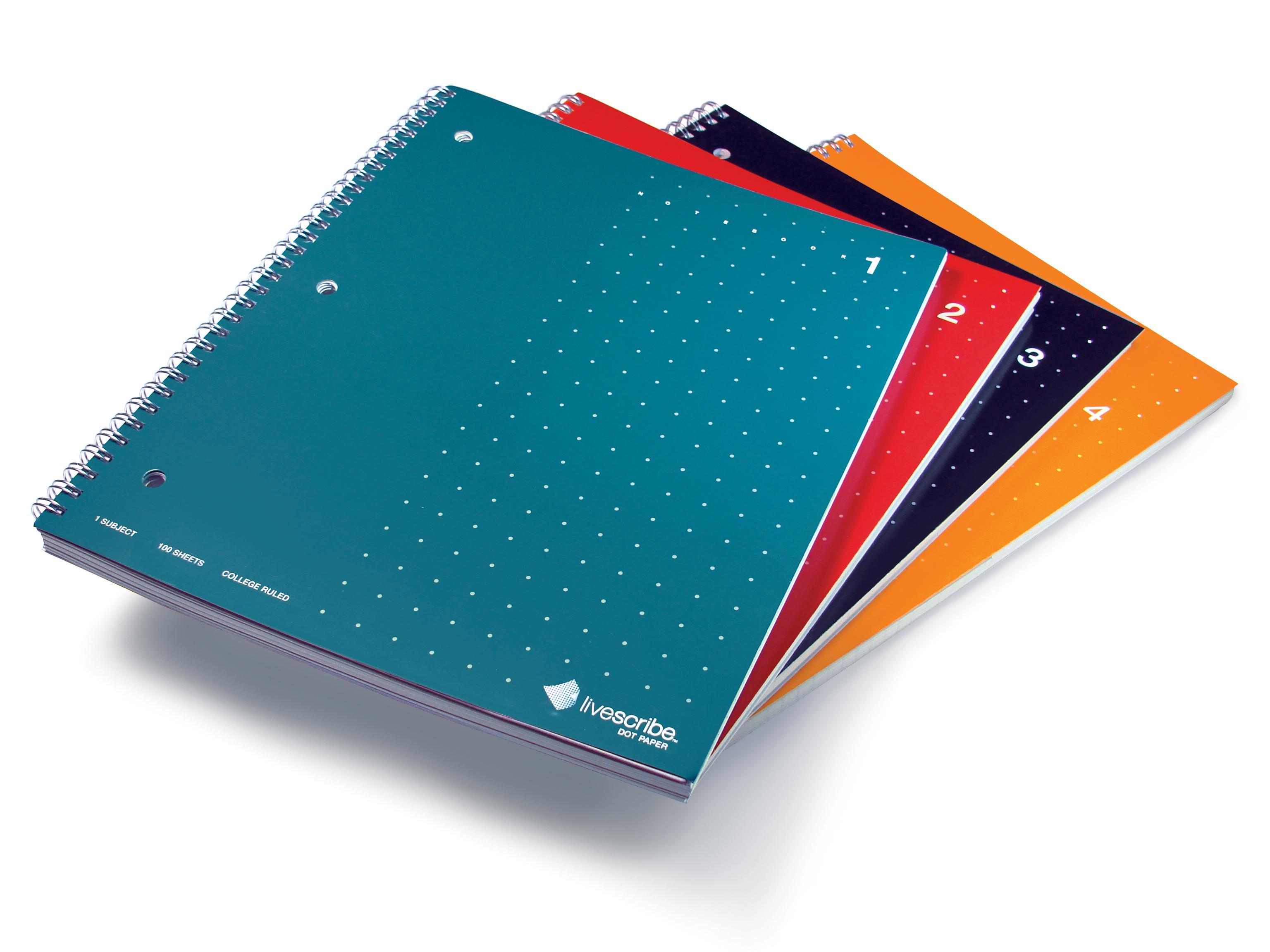 amazon com livescribe 8 5 x 11 single subject notebook 1 4 4