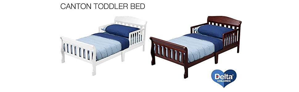 Delta Children Canton Toddler Bed Bundle Cherry Delta Children Twinkle Galaxy Dual Sided Recycled Fiber Core Toddler Mattress
