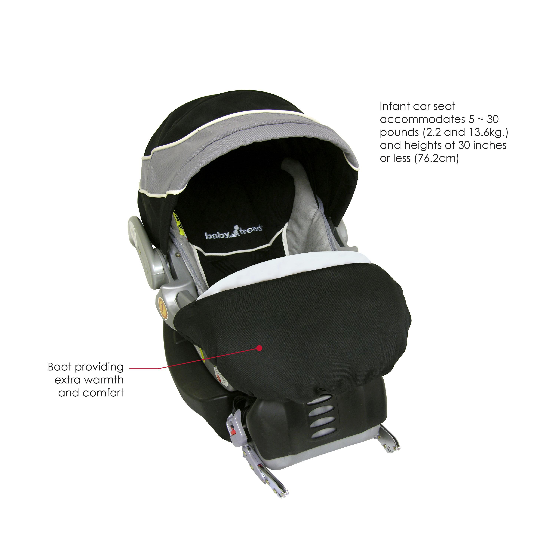 baby trend flex loc infant car seat phantom 5 30 pounds baby. Black Bedroom Furniture Sets. Home Design Ideas