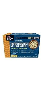 emegency food supply; emergency food kit; camping food; 3-day food supply; mre