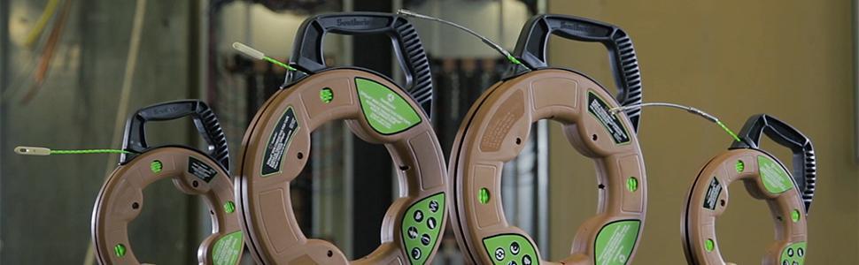 fishtape, fish tape, fiberglass, fiber glass, non-conductive tape, steel
