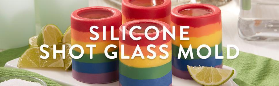 Amazon.com: Wilton Round Silicone Shot Glass Mold, 8