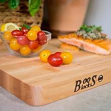 John Boos Chop-N-Slice Maple Wood Reversible Cutting Board with Deep Juice