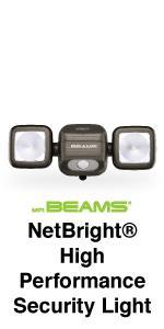 wireless security light, motion detector battery powered light, motion sensor light, network lights