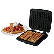 Croquade M006 Individual Waffle Plate for Heart Waffles Black