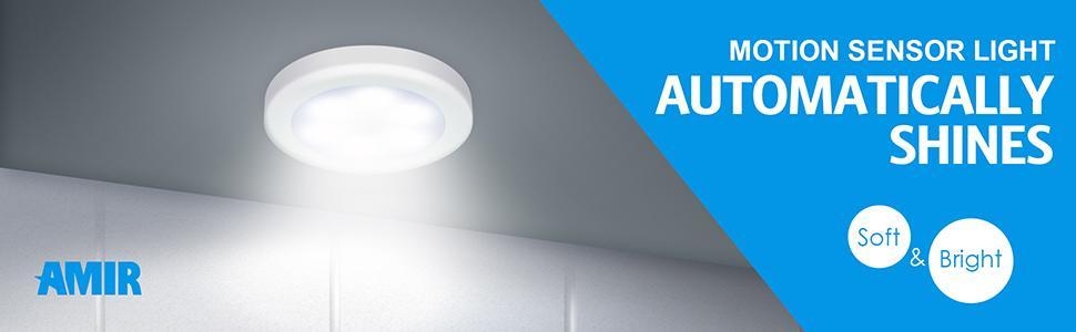 Amazon.com: Sensor de movimiento luz Amir, luz LED de noche ...