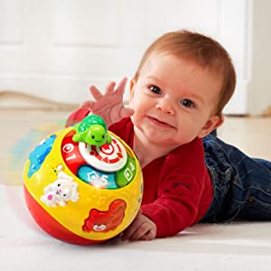 Amazon Com Vtech Wiggle And Crawl Ball Toys Games