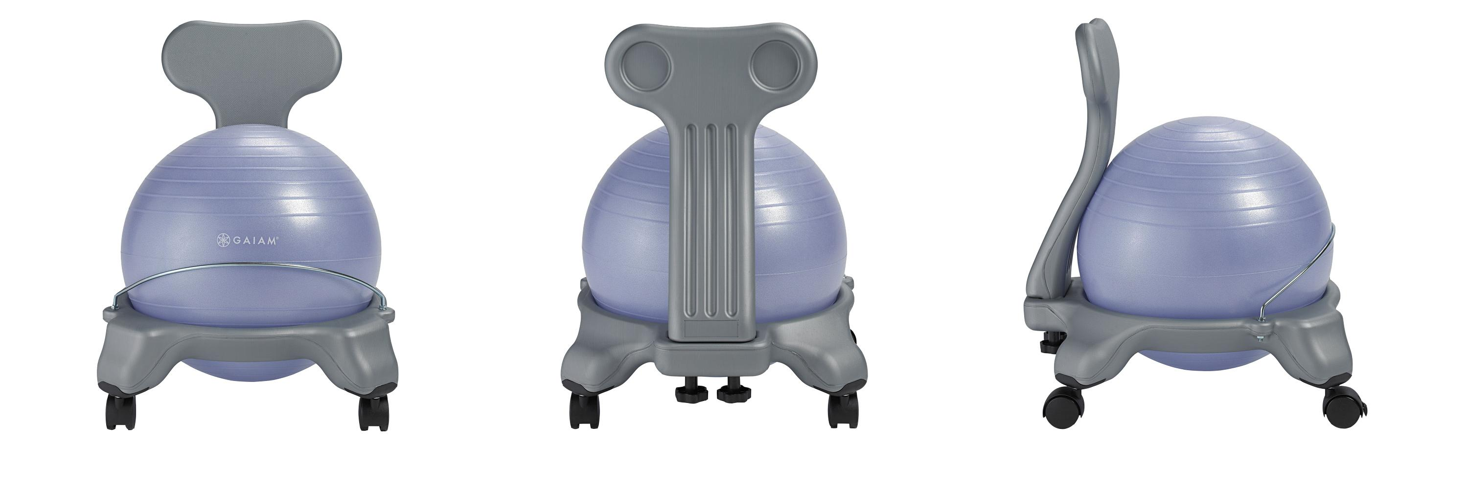 Gaiam Kids Balance Ball Chair Blue and Green Exercise Balls