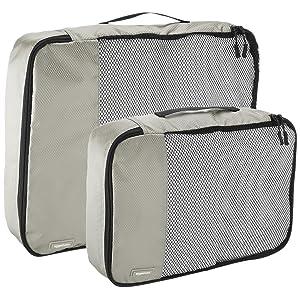 AmazonBasics Packing Cubes - 4 Piece Set (2 Medium and 2 Large)
