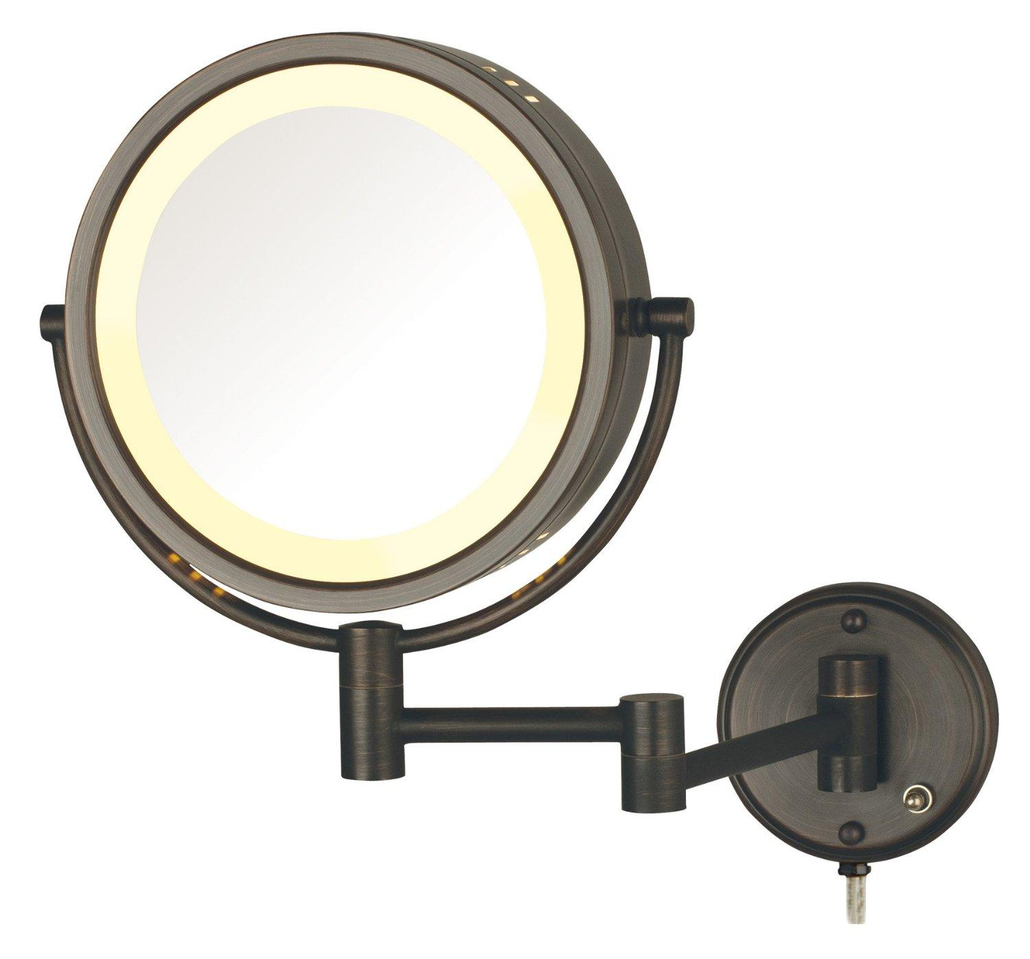 Amazon Com Jerdon Hl75bz 8 5 Inch Lighted Wall Mount Makeup Mirror