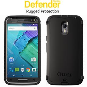 reputable site 75474 a15ab OtterBox Defender Case for Motorola Moto X (3rd Gen) - Retail Packaging -  Black