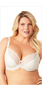 f79e7077fc1d6 Olga Women s Flirty Underwire 2 Ply Cut   Sew Bra with Lace at ...