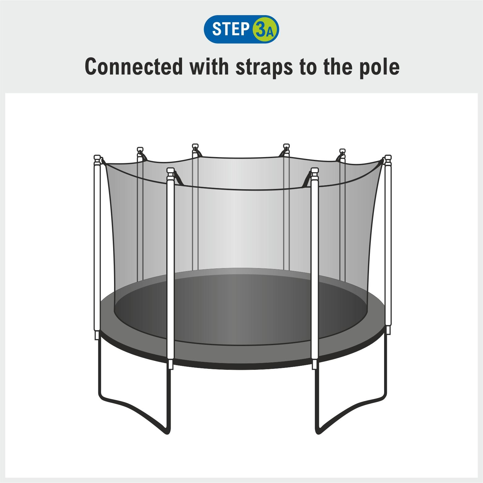 Trampoline Parts Canada: Upper Bounce Trampoline Enclosure Safety Net For Round