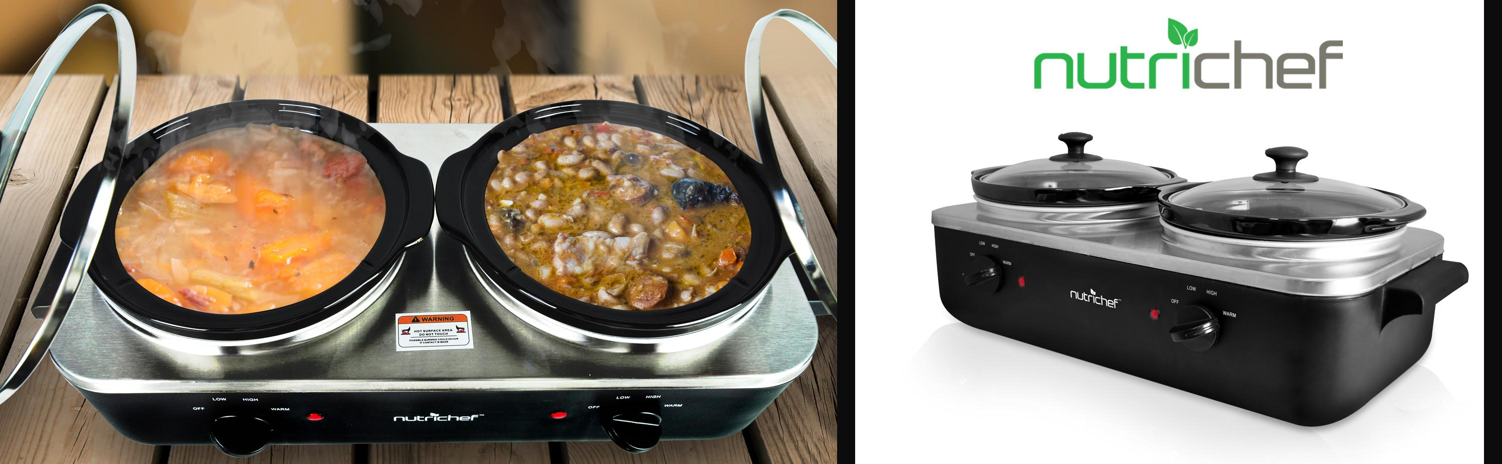 Amazon Com Upgraded 2018 Electric Slow Cooker Crock Pot