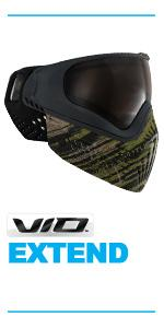 virtue vio extend thermal paintball mask goggle chromatic lens