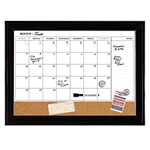 Amazon Com Quartet Combination Magnetic Whiteboard Calendar