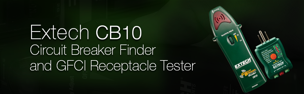 Extech, CB10, Circuit Breaker Finder, GFCI Receptacle Tester
