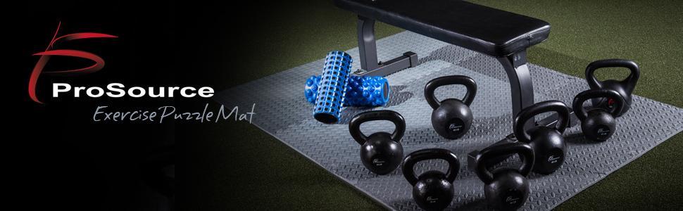 ProSource Exercise Puzzle Mat, Interlocking foam mats, foam tiles, eva foam mats, foam mat flooring