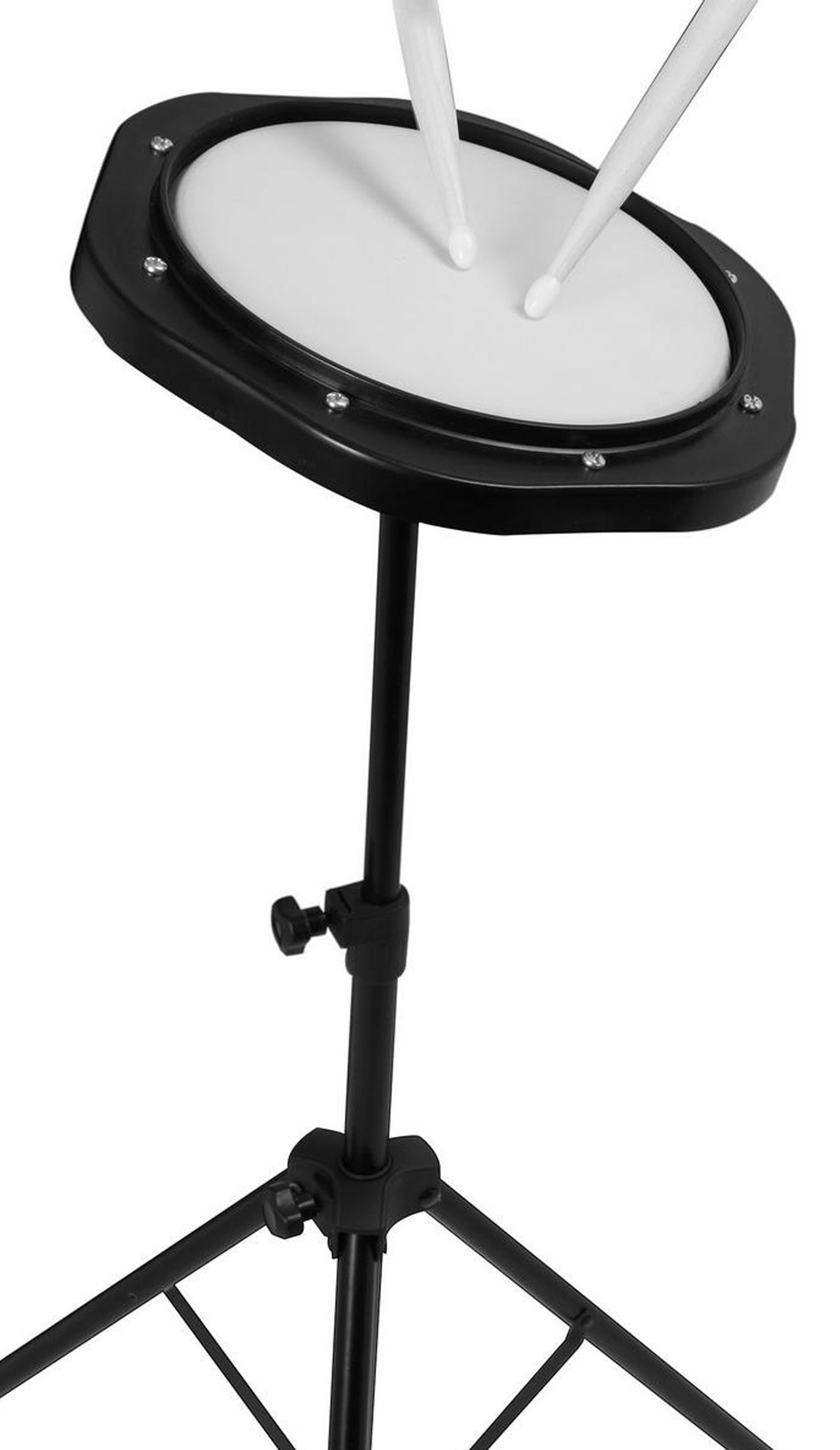 on stage dfp5500 drum practice pad with stand bag musical instruments. Black Bedroom Furniture Sets. Home Design Ideas