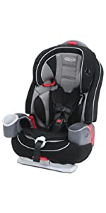Graco SlimFit All In One Convertible Car Seat Nautilus 65 LX 3 1 Harness Booster Milestone