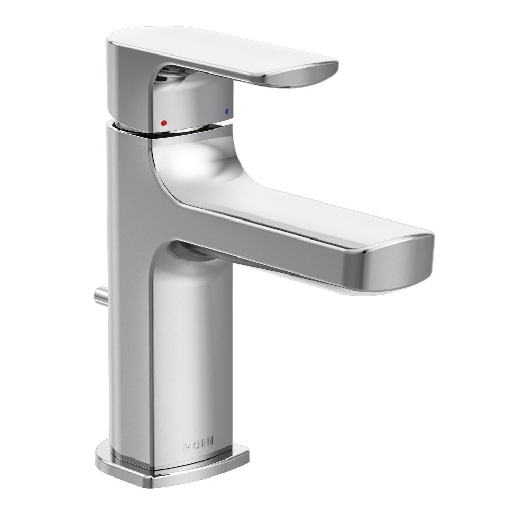 Moen 6900 Rizon One Handle Low Arc Bathroom Faucet Chrome Touch On Faucets Amazon Canada