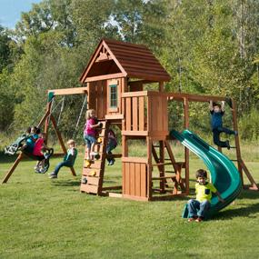 Amazon Com Swing N Slide Pb 8272 Cedar Brook Play Set With Two