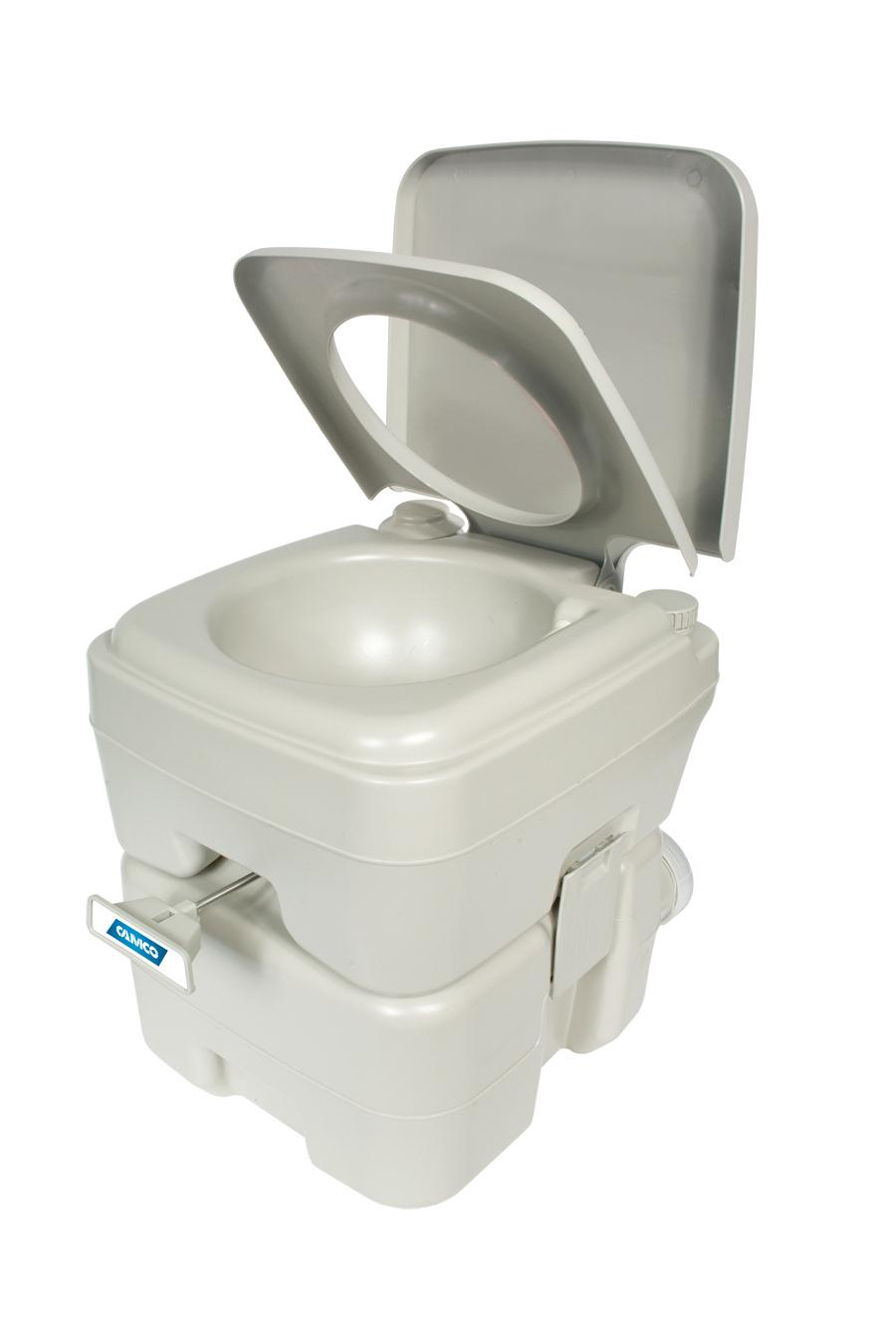 Amazon.com: Camco Standard Portable Travel Toilet, Designed for ...