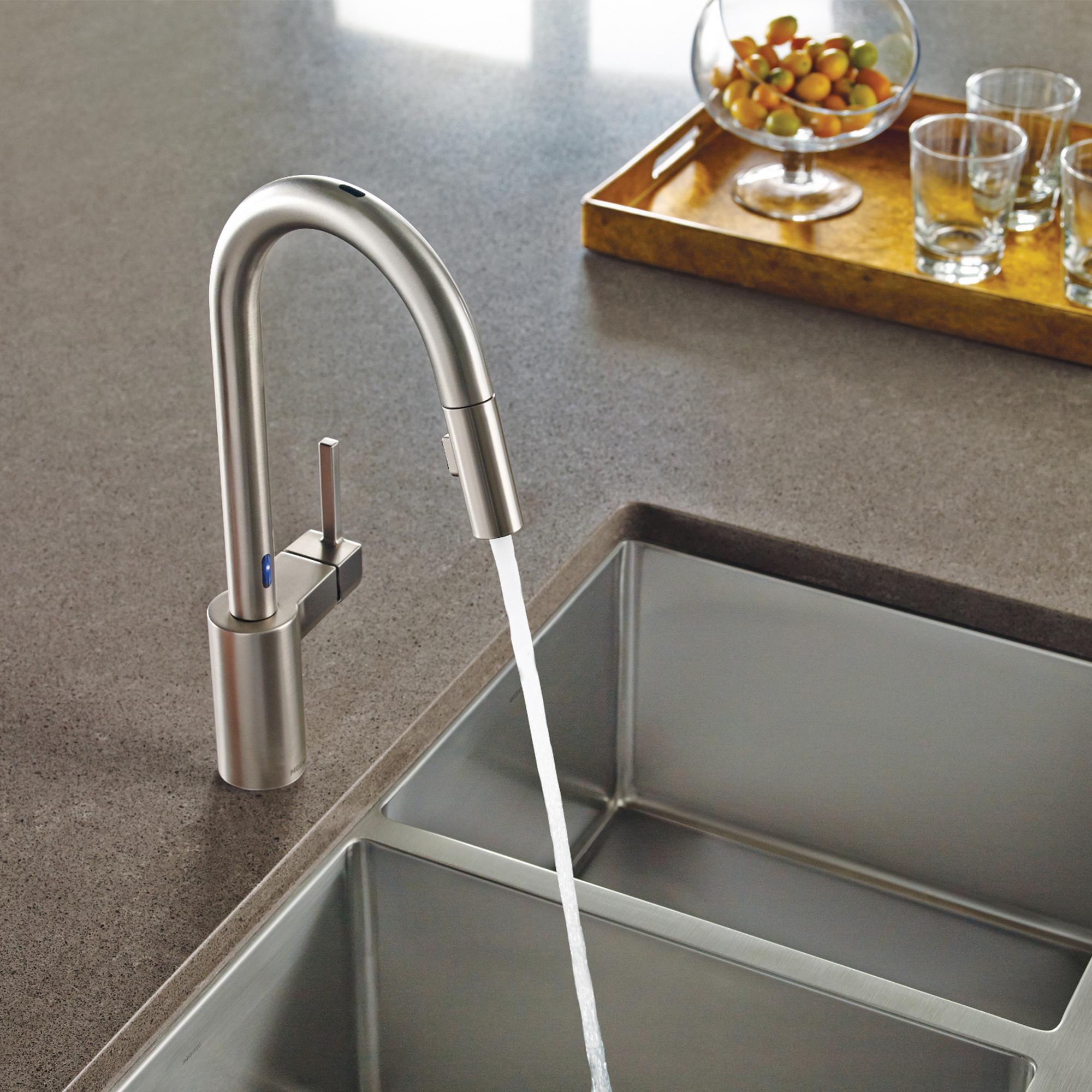 Moen 7565SRS Align One-Handle High Arc Pulldown Kitchen Faucet, Spot ...