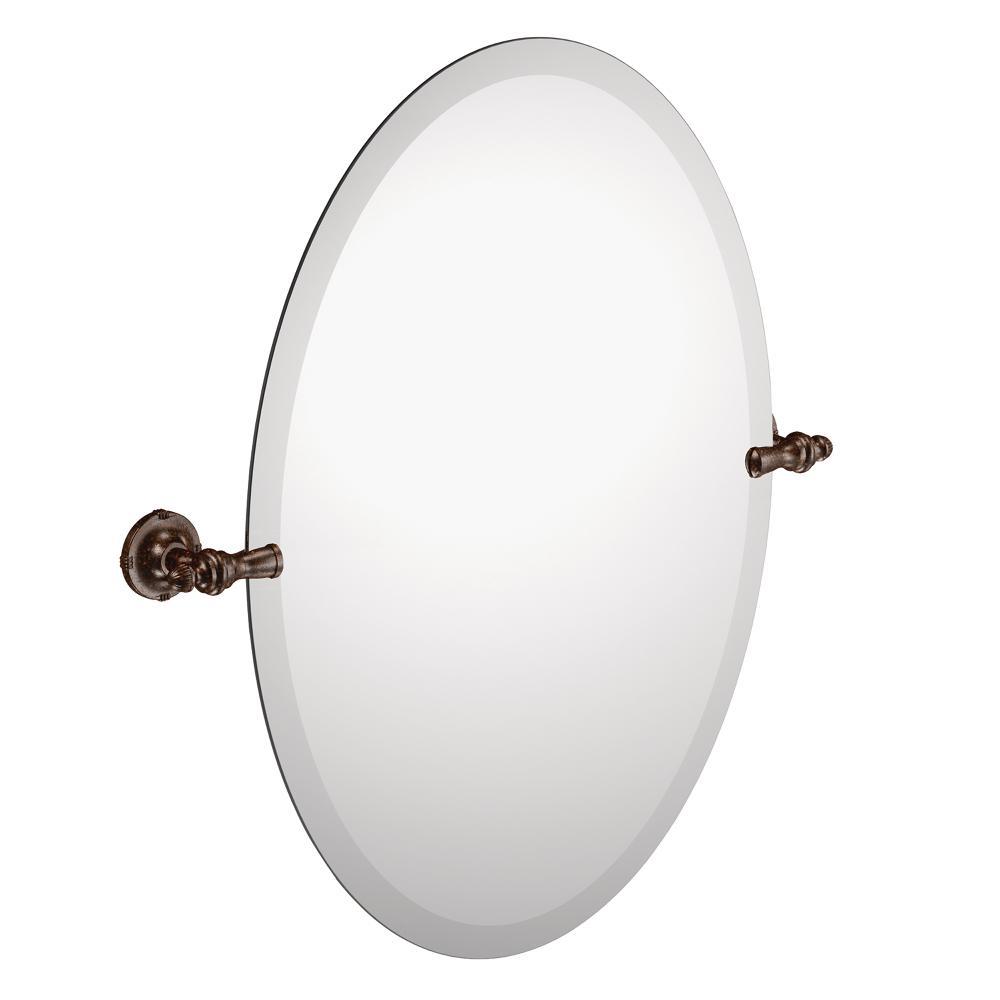 Moen Gilcrest Bathroom Oval Tilting Mirror