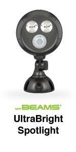 mr beams, mb390, ultrabright spotlight, wireless led spotlight, bright motion spotlight