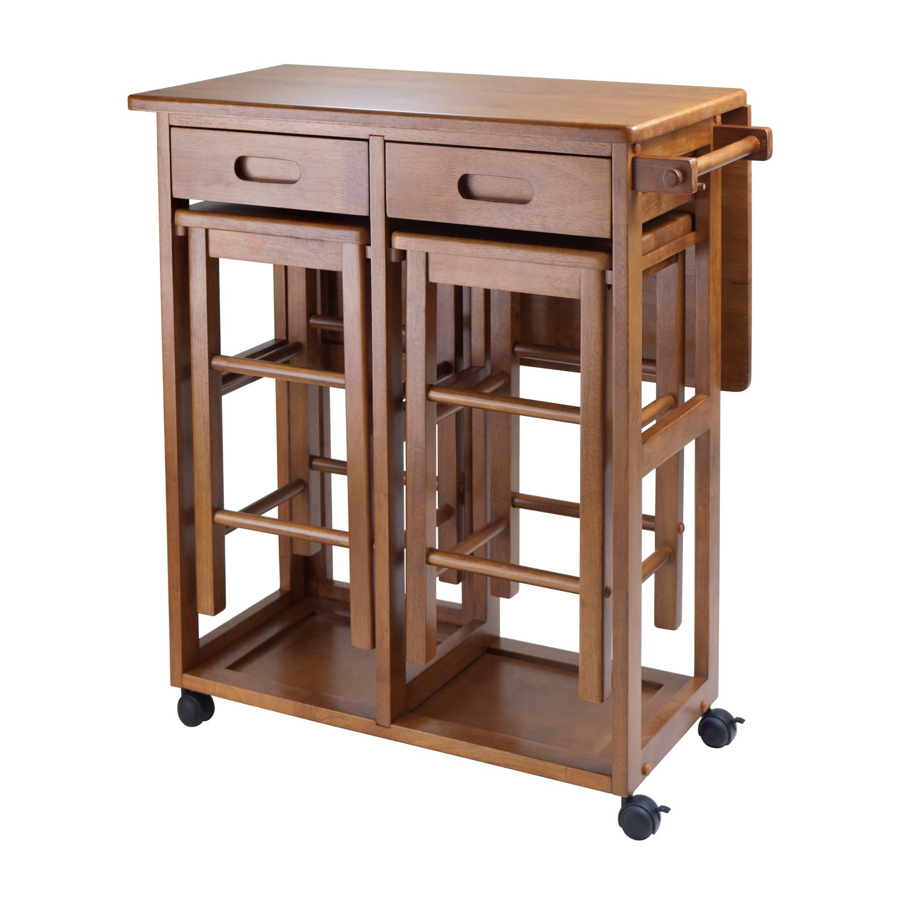 Winsome Wood Space Saver With 2 Stools Square Amazon Ca Home