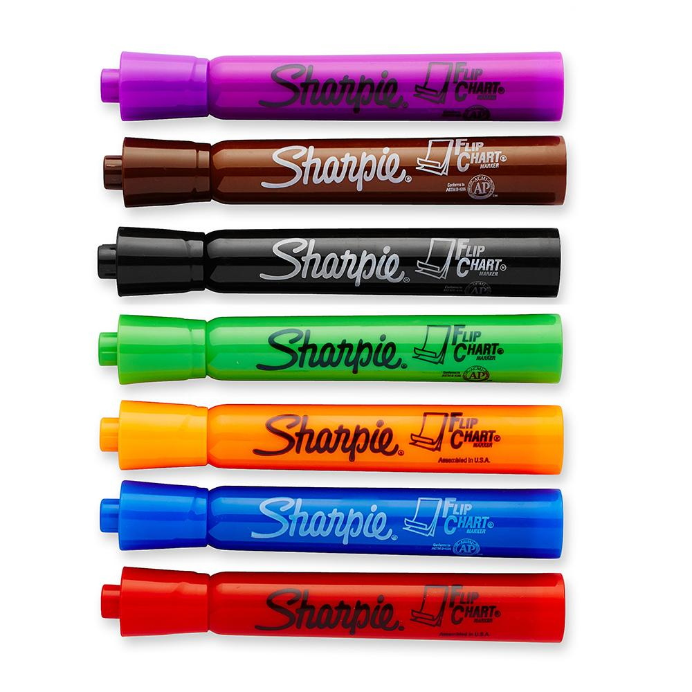Amazon com sharpie flip chart markers assorted colors box of 8
