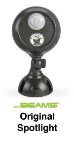 mr beams, mb360, battery powered led spotlight, wireless security spotlight