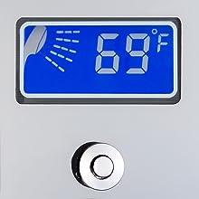 787392m, shower panel, mirror chrome, shower tower, blue, bathroom, ocean, led temperature display