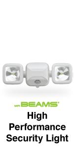 mr beams high performance security light, dual head spotlight, wireless outdoor security light