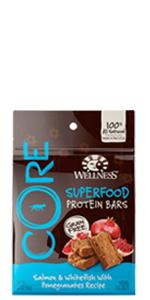 superfood dog treats, dog treats, high protein dog treats, Wellness, CORE, grain-free, high-protein