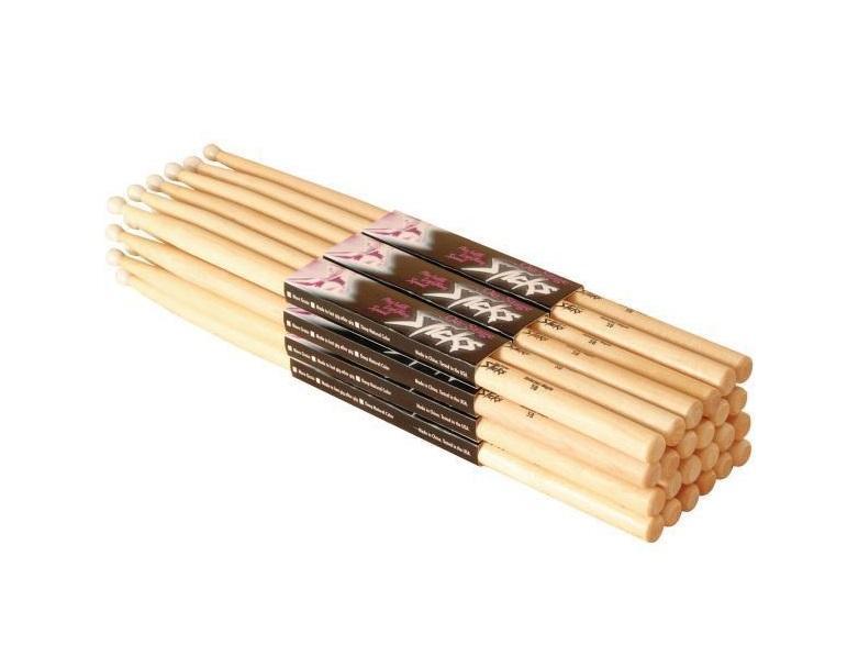 on stage 5a hickory drum sticks 12 pack wood tip 12 pak musical instruments. Black Bedroom Furniture Sets. Home Design Ideas