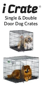 iCrate Folding Metal Pet Crate