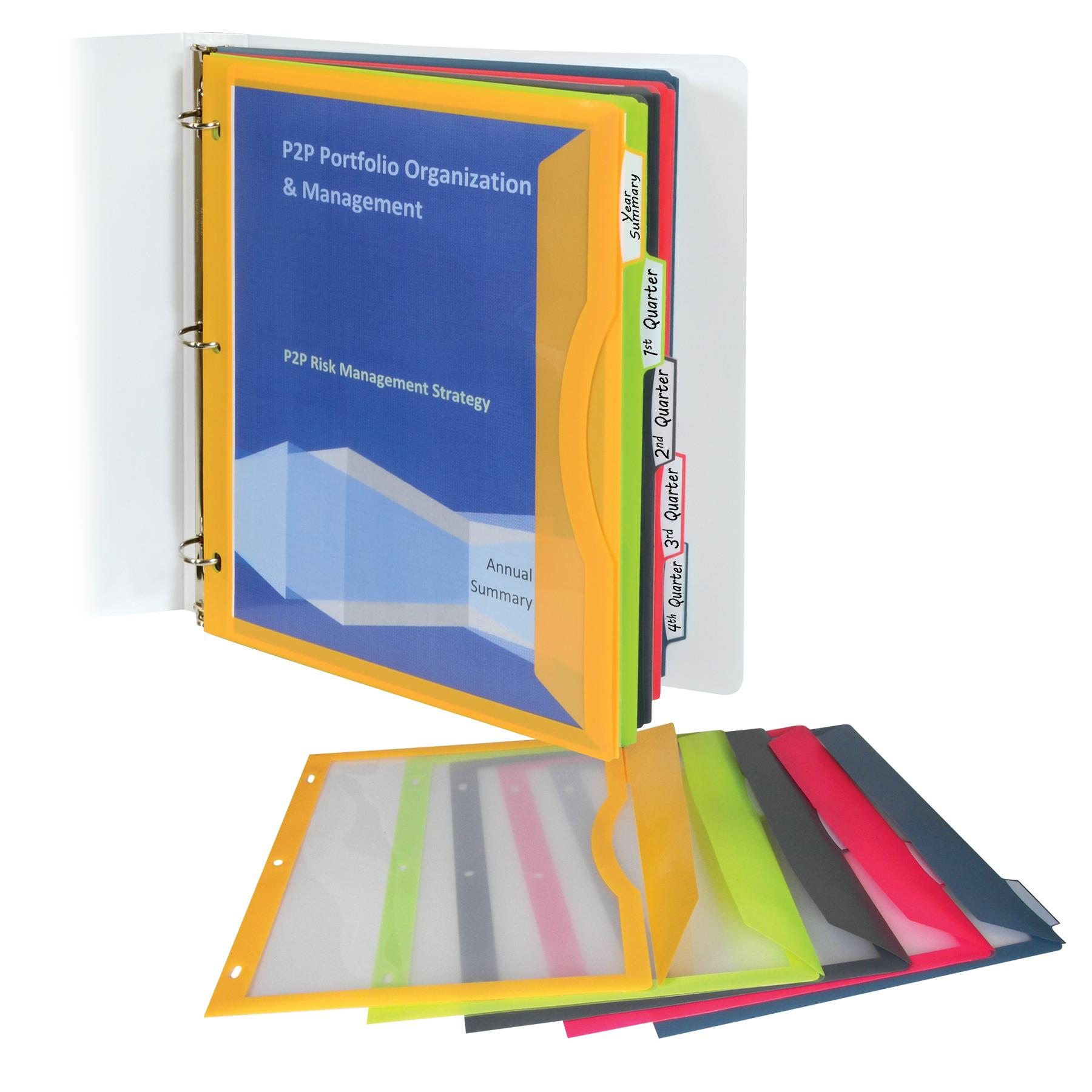 Amazon.com : C-Line Super Heavyweight Poly Binder Pocket