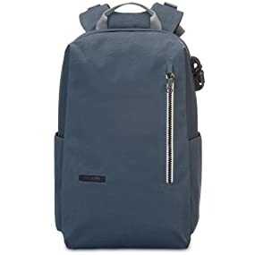 3361e25f596 The Intasafe Backpack features a timeless, understated design and loads of  security features.