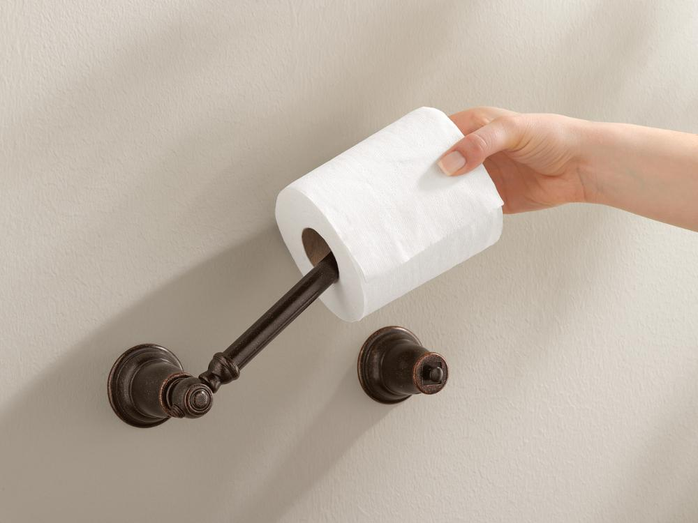 Toilet Paper Holder : Moen yb5408pb kingsley bath accessory polished brass toilet paper