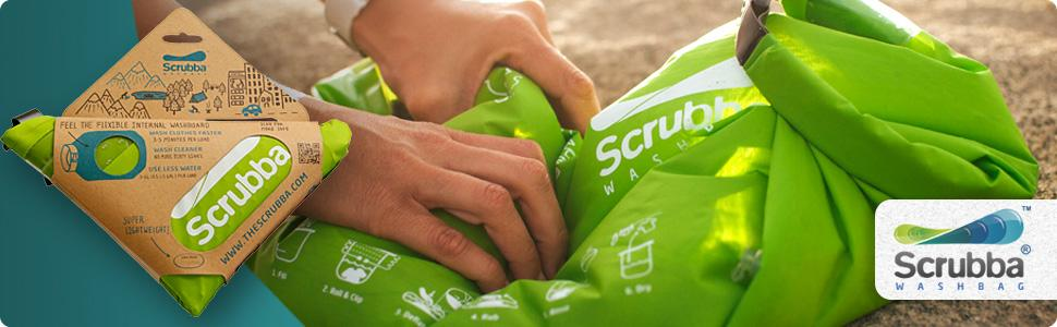 Scrubba Portable Laundry System Wash Bag for travel is lightweight and effective.