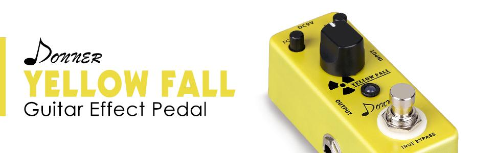 donner yellow fall vintage pure analog delay guitar effect pedal true bypass musical. Black Bedroom Furniture Sets. Home Design Ideas