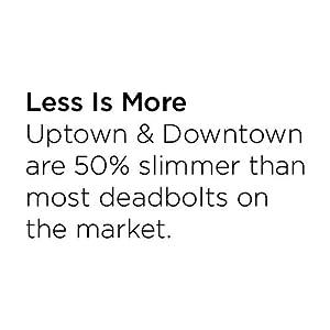 less is more, emtek, baldwin, 50% slimmer