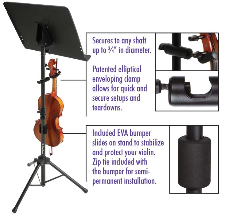 on stage vs7200 violin hanger for music stands musical instruments. Black Bedroom Furniture Sets. Home Design Ideas