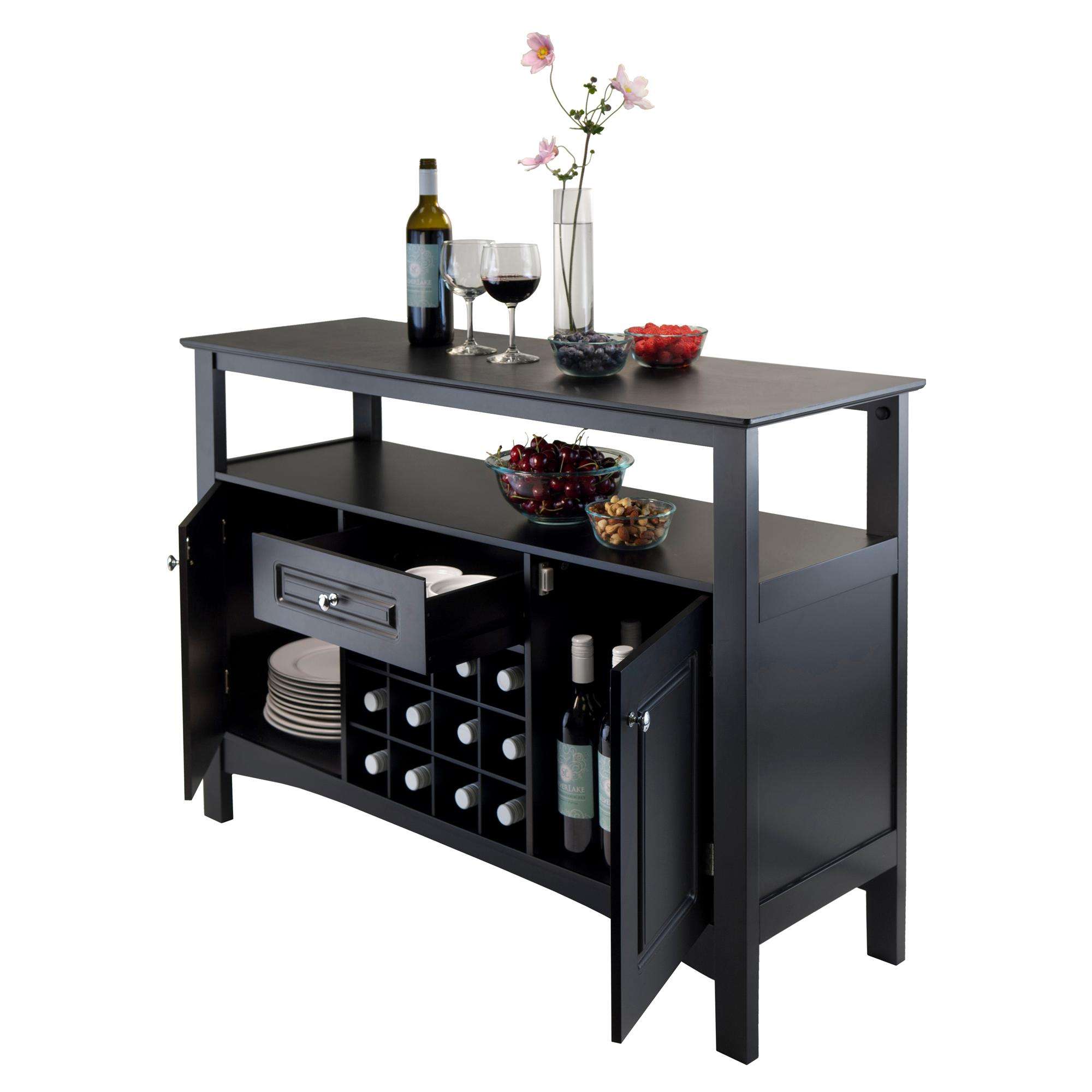 Winsome wood jasper storage buffet home kitchen Home bar furniture amazon