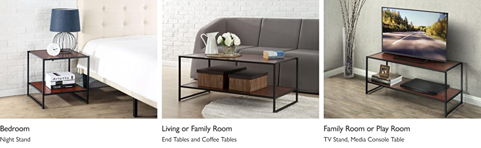 Amazoncom Zinus Garrison Modern Studio Collection Tv Media Stand